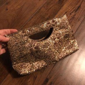 Bronze clutch purse